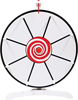 "Spinning Prize Wheel 12"" White Face Dry Erase Spin Wheel with Classic Peg Design"