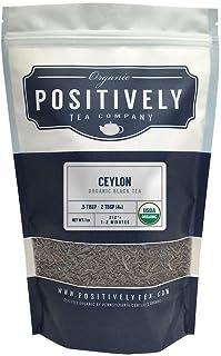 Positively Tea Company, Organic Ceylon, Black Tea, Loose Leaf, 16 oz. Bag