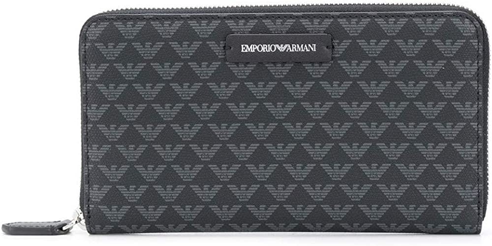 Emporio armani portafoglio porta carte di credito da donna con logo in stampa in pelle sintetica YFH1E1