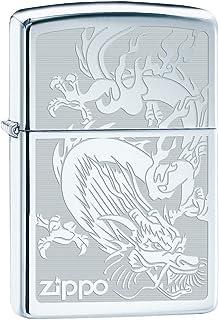 Zippo Lighter: Dragon, Engraved - High Polish Chrome