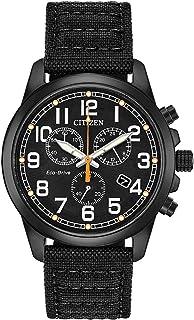Men's Chandler Stainless Steel Quartz Nylon Strap, Black, 20 Casual Watch (Model: AT0205-01E)