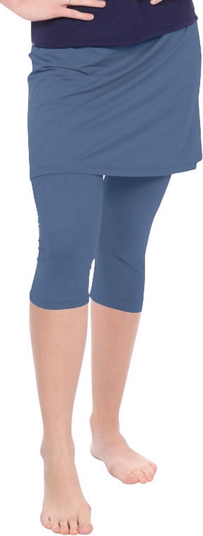 Kosher Casual Women's Mid Thigh Length Exercise & Swim Skirt With Leggings