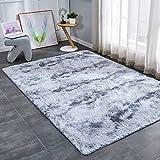 FALDAA Area Rug, Ultra Soft Shag Area Rug, Faux Velvet Rugs for Bedroom Living Room, Washable Non-Slip Design 3X5 Feet