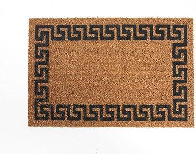 """DeCoir 18"""" x 30"""" 'Greek Key' Coir Doormat"""
