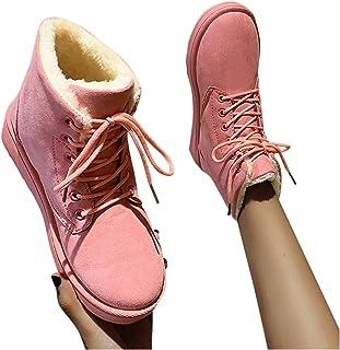 Beudylihy Bottes mi-hautes d'hiver chaudes pour femme - Avec fermeture éclair - À enfiler et à enfiler - Rondes, épaisses...