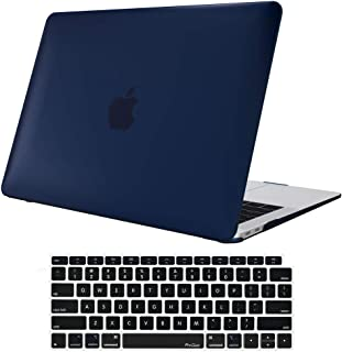 MacBook Air 13 Inch Case 2018 Release, ProCase Rubber Coated Hard Shell Case for MacBook Air 13-inch Model A1932 with Keyboard Skin Cover –Darkblue