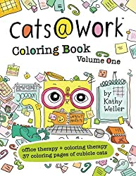 cats at work funny coloring book