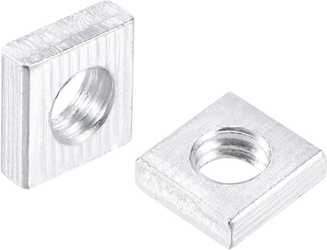 uxcell Square Nuts M4x7mmx2mm Thread Coarse Max 74% OFF Zinc-Plated Max 45% OFF Metric
