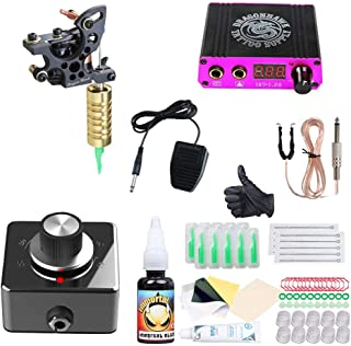 Professionele Tattoo Kit Voering Coils Machine Mini Power met Frequentieomvormer Permanente Make-up Tattoo Set handig