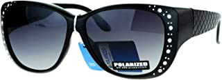 SA106 Polarized 55mm Fit Over OTG Butterfly Rhinestone...