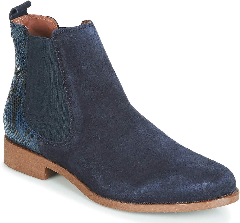 André Chaperon Stiefelletten Stiefel Damen Marine Stiefel    eine breite Palette von Produkten