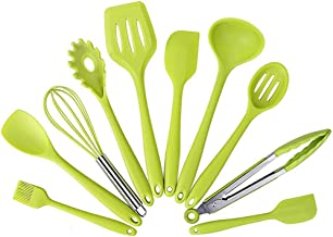 Cooking Utensils Silicone Cooking Utensils 10 Pcs Cooking Set Pan Spatula Ladle Turner Egg Beaters Spaghetti Server Slotte...