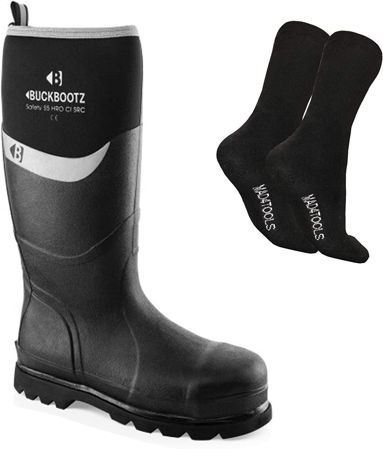 Various Sizes Buckler BBZ5060 Non-Safety Waterproof Rubber Wellington Boots