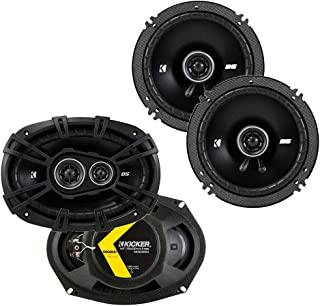$149 » Kicker 43DSC69304 D Series 6x9 Inch 360 Watt 3 Way Dual Speakers with 43DSC6504 6.5 Inch 240 Watt 2 Way 4 Ohm Car Audio Co...