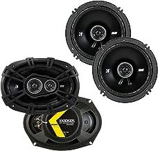 Kicker 43DSC69304 D Series 6x9 Inch 360 Watt 3 Way Dual Speakers with 43DSC6504 6.5 Inch 240 Watt 2 Way 4 Ohm Car Audio Co... photo