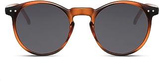 Cheapass Sunglasses Lunettes Rondes Normal et Miroitant Connaisseur Festival Rétro Protection UV400 Femmes Hommes