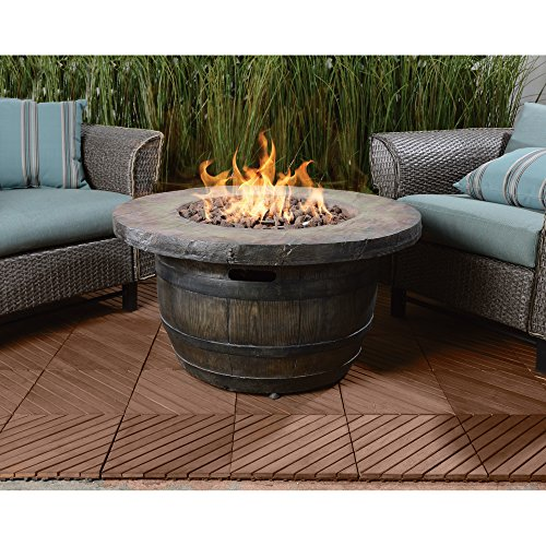 Vineyard Propane Fire Table - Big Heat, Hot Look