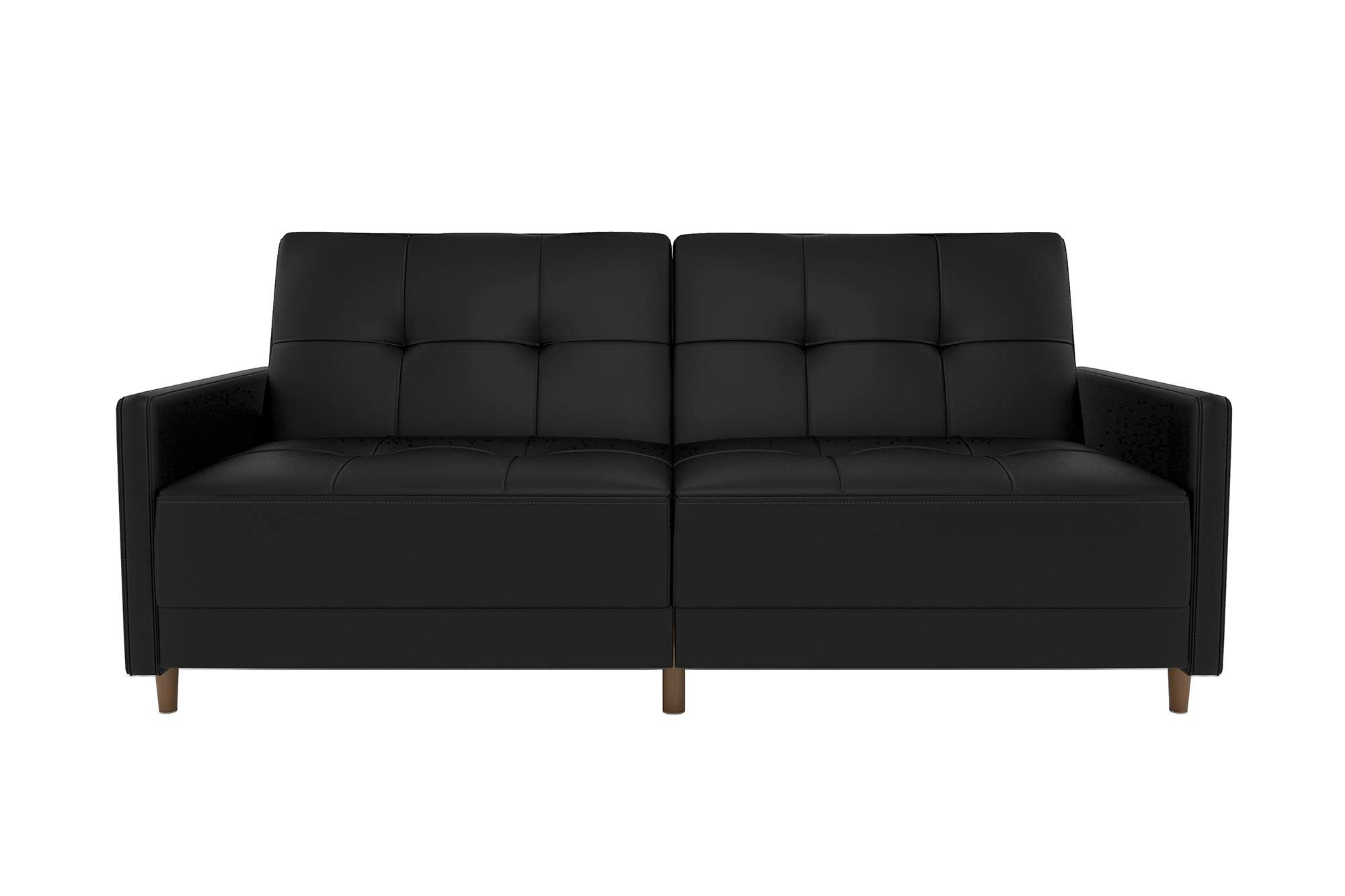 - DHP Andora Coil Futon Sofa Bed Couch With Mid Century Modern