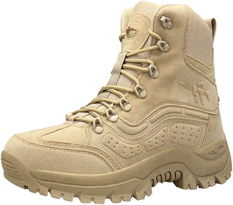 ASJUNQ Wearable Men's High-top Boots Chukka Chelsea Non-Slip Hiking shoes Waterproof Martin Boots Desert Boots