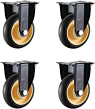 4 stks Meubilair Caster, Heavy Duty Mute Directional Wheel met Aansluiting Stuk Dining Car Casters, 3/4 inches Slijtvast (...