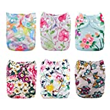 Best Aio Cloth Diapers - Babygoal Baby Cloth Diapers for Girls, One Size Review