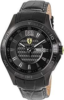 Men's 0830093 Scuderia Analog Display Quartz Black Watch