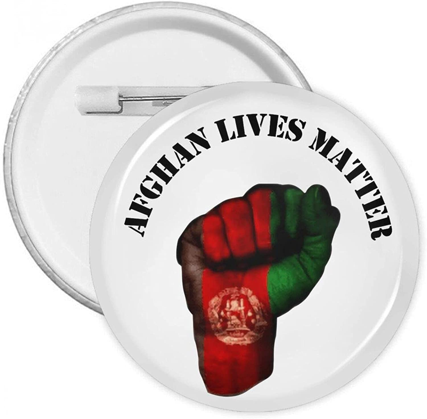 Afghan Lives Matter Round Pins Button Under Max 44% OFF blast sales Badges With