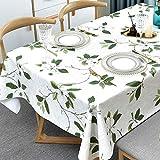 Plenmor PVC Tischdecke Rechteckig für Küche Esstisch Kunststoff Wischtuchreinigung Tischdecke für...