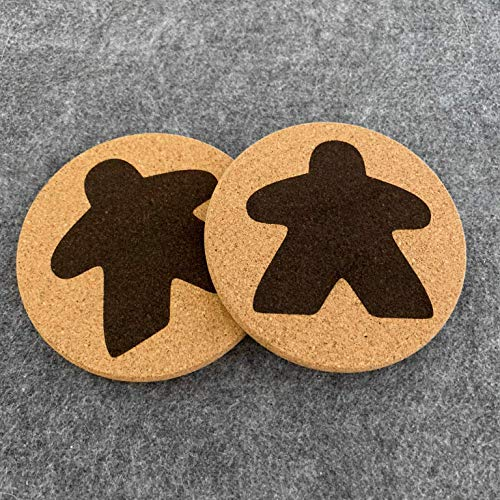Meeple Board Game Coasters (qty 4)