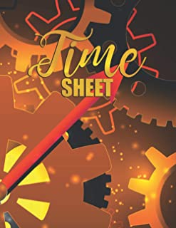 Time Sheet: Employee time Cards Tracker to Record Jobs Worked on, Working Hours, Overtime OT