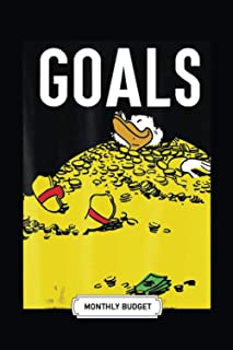 Monthly Budget Planner | Soft Cover | 100 Pages | 6 x 9 Inches | Christmas, Halloween Gifts: Duck Tales Scrooge Money Goal...