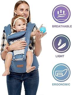 JooBebe Baby Carrier Infantino Mochila Portabebes porta Bebé Hipseat 6 en 1 - Sudadera con Capucha