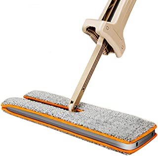 MM RETAILS Double Sided Easy Self Wringing and 360 Degree Spin Mop with Automatic Squeeze , Wet and Dry Flat Cleaning ( Me...