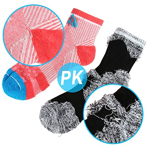 innotree 5 Pack Women's Cushioned Hiking Walking Running Socks, Crew Ankle Socks