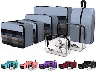7 قطع من إكسسوارات منظم السفر مع حقيبة أحذية وحقيبتين لأدوات الزينة من يامي