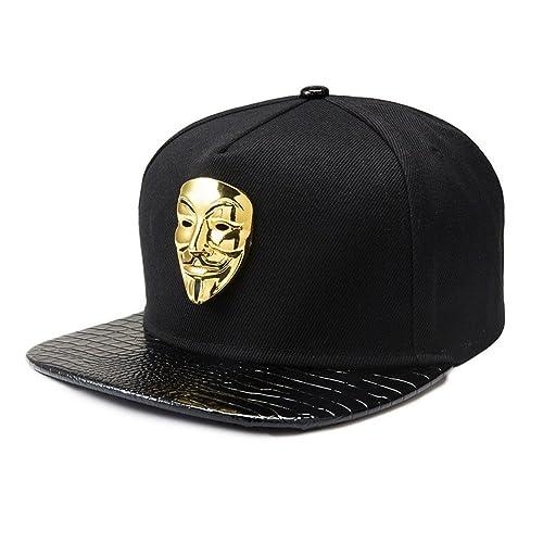 6dc6c374ef7d9 Baseball Cap for Men Black Hip-hop Flat Brim Cap Women Sun Hat Boys Snapback