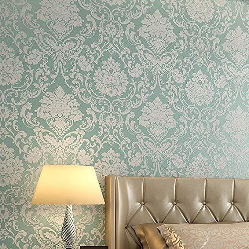 kengbi Fácil de decorar popular duradero papel pintado no tejido en relieve dormitorio papel pintado damasco estilo europeo cubierta de pared para sala de estar decoración del hogar papel de pared 3D