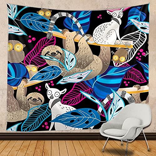 León tapiz mandala encaje hippie tapiz colgante de pared adorno bohemio brujería tapiz tela de fondo A5 180x200cm