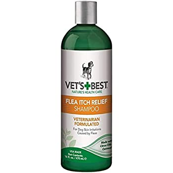 Pet Itch Remedies Amazon Com Vet S Best Flea Itch Relief Dog Shampoo Flea Bite Relief For Dogs Relieves Irritation And Itching From Flea Infestations 16 Ounces