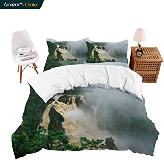shirlyhome Hotel Collection Soft Luxury Bed Sheets Breathable Barron Falls Barron Gorge National Park Cairns queensl Australia Warm 4 Piece Set X-Long Twin