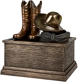 Perfect Memorials Large Cowboy Boots Cremation Urn