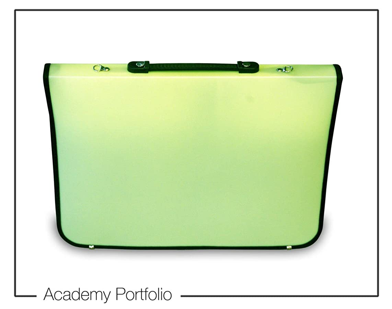 Artcare 15211400 36 x 4 x 28.5 cm A4 Synthetic Material Academy Portfolio, Lime