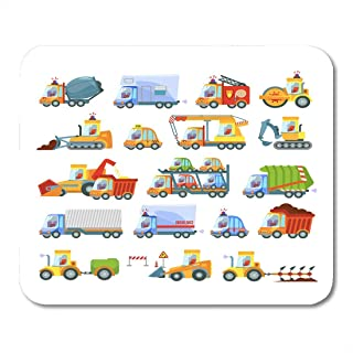 Alfombrillas de ratón Gran variedad de tipos de transporte Equipo de construcción Servicios urbanos Maquinaria agrícola