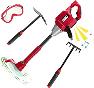 Kids Power Toy Tool Weedeater, Boys Outdoor Play Constrution Tools Lawn Toy Weed Trimmer for Toddlers