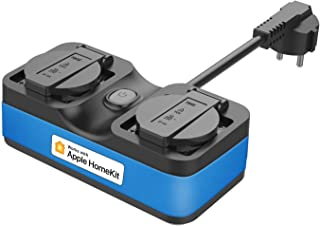 WiFi-buitenstopcontact werkt met Apple HomeKit, meross Smart-buitenstopcontact waterdicht, WiFi-tuin dubbel stopcontact, c...