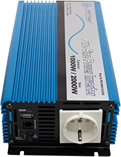 AIMS Power European 1000 watt, 220 Volt 230 Volt, 12 VDC Pure Sine Power Inverter