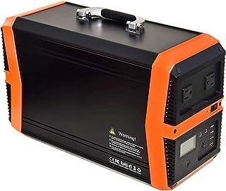 SSCYHT 1000w Central Eléctrica Portátil Generador Solar 1000w / 1010wh Batería Litio para Acampar Al Aire Libre Generador Energía Solar con 2 Tomas AC 2 DC y 4 Puertos USB