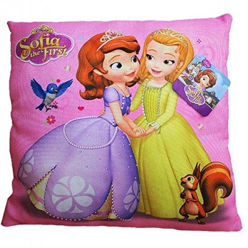 Disney Princess - Princesse Sofia - Coussins enfants 35x35 cm - sélection des couleurs, Farbe:Rosa