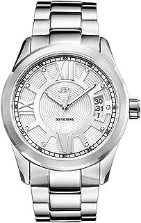 JBW Luxury Men's Bond Diamond Wrist Watch with Stainless Steel Link Bracelet