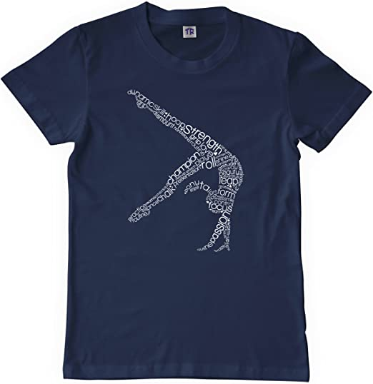 YOUTH Gymnastics 3D 100/% Cotton T-Shirt BOLD /& CHEERFUL DESIGN